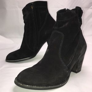 Paul Green Black Suede Bootie Size 6.5
